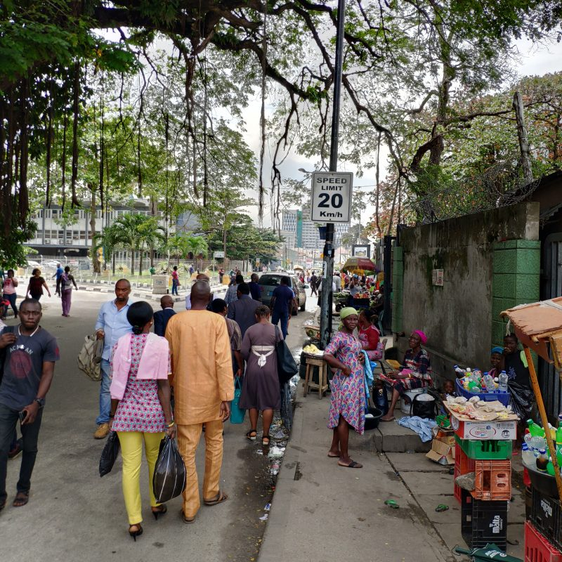 Walking in Lagos, Nigeria